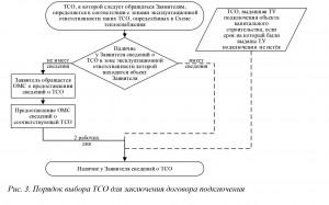 Рис. 3. Порядок выбора ТСО для заключения договора подключения
